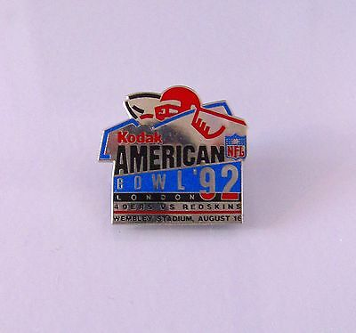 NFL American Bowl '92 Joe Montana 49ers v Redskins Wembley Stadium Metal Badge