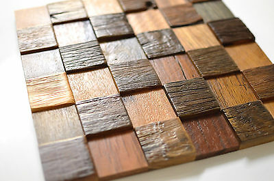 Wall Tiles, Decorative Wood Tiles, Wood Wall Tiles, 3D Wall Decor, Wall Covering