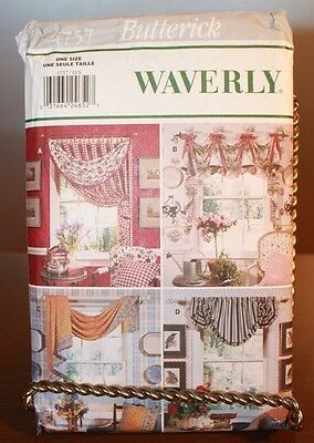 Butterick Waverly 4757 Window Toppers Curtains Sewing Pattern UNCUT
