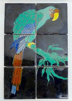 Catalina Vintage Macaw Tile Panel