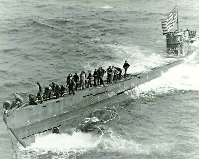 1944-Boarding Party from USS Pillsbury Secures Captured German U-Boat U-505