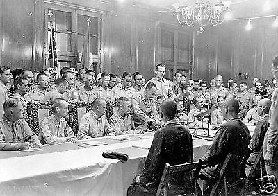 Surrender ceremonies at Baguio, Luzon, in the Philippines on September 3, 1945