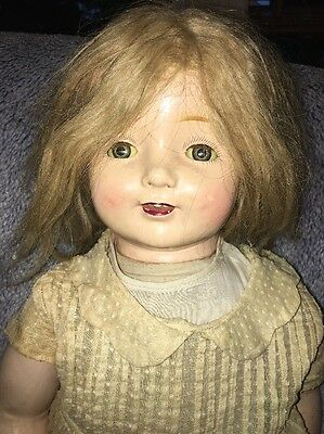 """Vintage 26"""" HORSMAN Composition Doll Open Mouth with teeth Early 1900's EIH Co"""