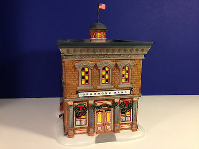 Dept 56 New England Village DRUMMOND BANK w/box NEW! Combine Shipping!
