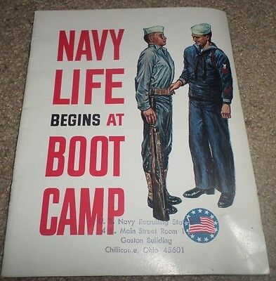 1964 Us Navy Life At Boot Camp Recruiting Brochure Booklet Chillicothe