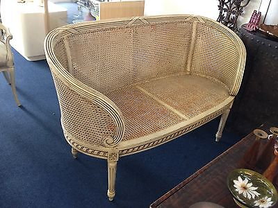 Decorative Vintage Caned Sofa French Style