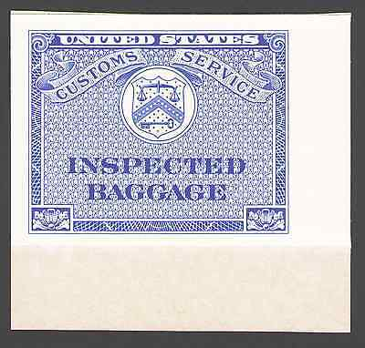 US. Blue. Customs Service Inspected Baggage. Booklet Single. MNH