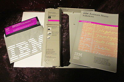 Vtg IBM Software Assistant Home Solutions Filing Assistant IBM Accounting S/W