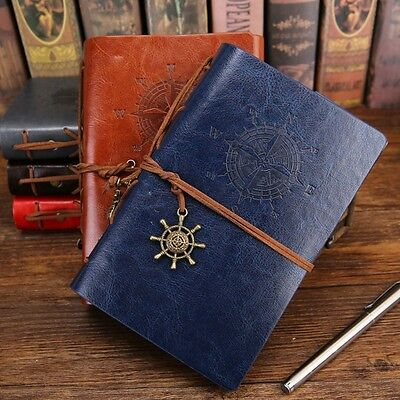 New Hot Retro PU Leather Notebook Classic Retro Spiral Ring Binder Diary Book