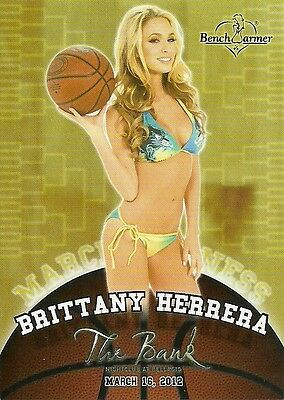 2012 Benchwarmer Brittany Herrera The Bank Promo 50 Cent Ship