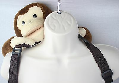 Curious George Plush Backpack &  Puppet Adjustable Straps EUC