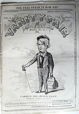 1862 Extremely Rare Vanity Fair ~ Cassius Marcellus Clay Slavery Abolitionist
