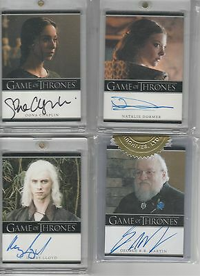 Game Of Thrones Season 2 Auto 6 Case Incentive George R.r. Martin Autograph