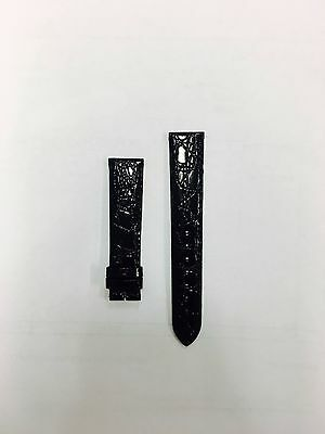 Genuine New Longines 18 mm X 16 mm Black Watch Strap Band Leather
