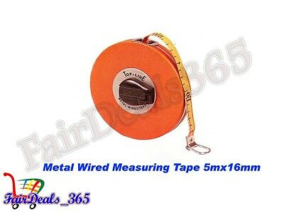 5Mx16MM TOP LINE MEASURING TAPE WIDTH WITH COPPER WIRES WITH UNBREAKABLE CASE