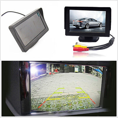 """Wired 12V ABS 4.3"""" TFT LCD Car Rearview Reverse Camera Screen Display For Holden"""
