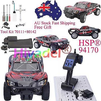 HSP 2.4Ghz RC ESC Car 1/10 Electric Rally Truck+ Power Starter + Tools Kit SEL5