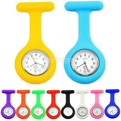 1X Silicone Nurse Brooch Tunic Fob Watch Nursing Nurses Pendant Pocket Watch