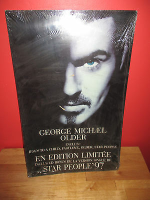 George Michael Rare French Promo Display Plv Older 35 X 55 Cm Jesus To A Child