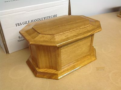 Solid Wood Cremation Ashes Casket Urn Funeral Burial REMEMBRANCE  BNIB