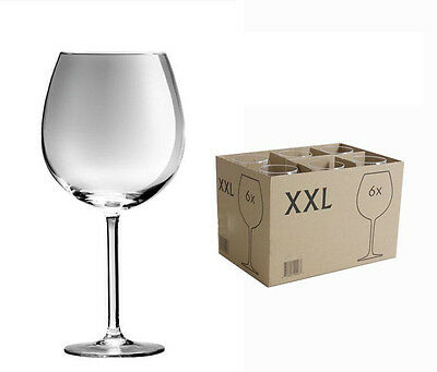 Box of 6 XXL fine glass Royal Leerdam red wine glasses 730ml RRP £22.15