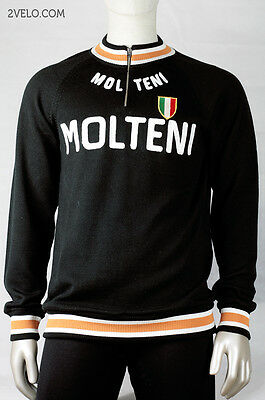 MOLTENI vintage wool long sleeve jersey, new, never worn L