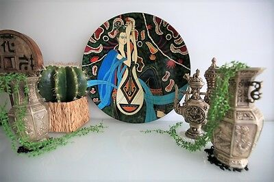 Designer Wall Art Decorative  Lacquer Wood Painting on bowl