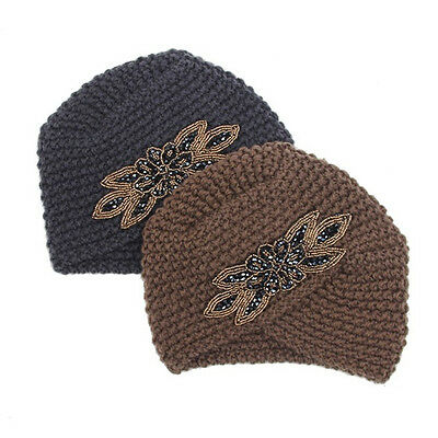 Women Ladies Winter Warm Crochet Knit Knitted Wool Hat Fashion Turban Beanie Cap