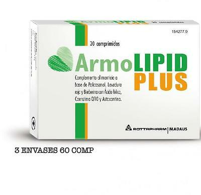 3 X ArmoLIPID PLUS (cuida tu Colesterol de manera natural) Tratamiento 60 dias