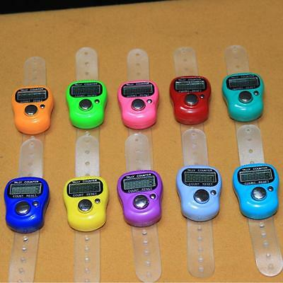 1X Digital Finger Rings Tally Counter Hand Held Knitting Row Counter Clicker