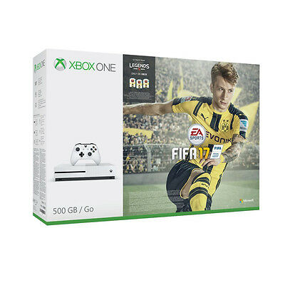 Microsoft Xbox One S Gaming Console 500GB Robot White Includes FIFA 17