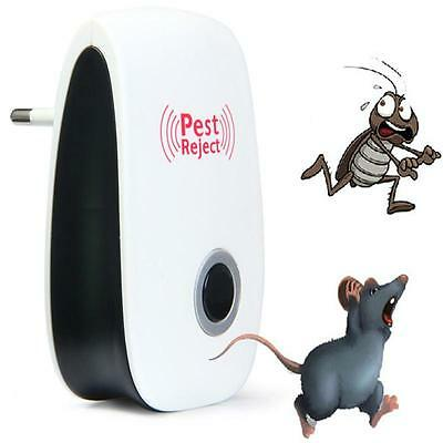 New Electronic Ultrasonic Anti Insect Pest Mosquito Control Mouse Repeller TT