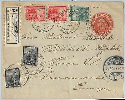 Postal History 65552 Argentina Picture Stationery Card Mountains 1903