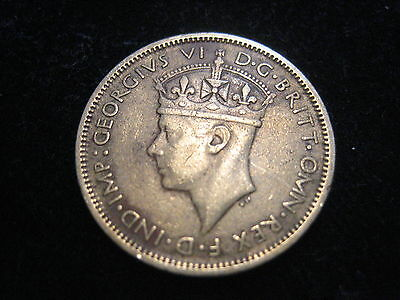 """Mds British West Africa One Shilling 1942 """"george Vi."""""""