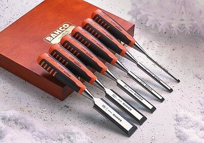 XMS16CHISEL6 Bahco 6 Piece Bevel Edge Chisel Set in Wooden Case