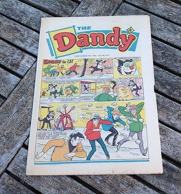 VINTAGE THE DANDY COMIC 9th January 1971 Issue no. 1520