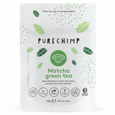 Matcha Tea Powder by PureChimp™ - 20g Pouch - Ceremonial Grade