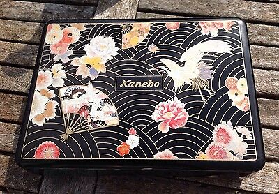 Traditional Japanese Made Kanebo Vintage Black Laquered Floral Patterned Box