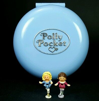 Polly Pocket 1989 SKATING PARTY *COMPLETE* Vintage Bluebird Blue Circle Ice