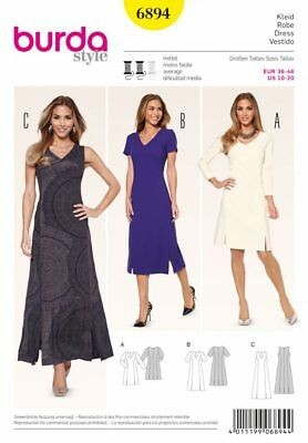 3ddbac2b1620 BURDA STYLE SEWING Pattern - 6574 - Dresses 10-20 -  17.95