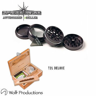 Space Case 4 Piece Titanium Grinder All Sizes & Wolf Production T2 Deluxe Large