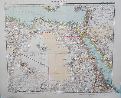 Map of Egypt, River Nile and Red Sea. 1909. Stieler. Perthes. AFRICA.
