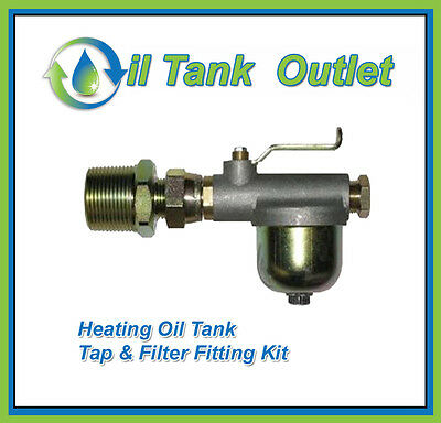 Domestic Heating Oil Storage Tank  Tap and Filter Fitting Kit