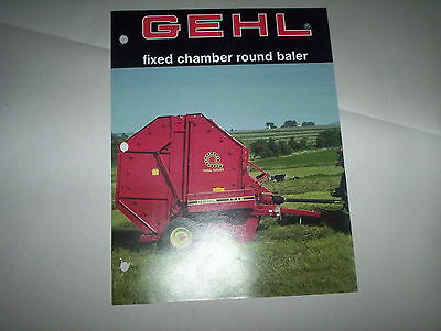 GEHL Fixed Chamber 1310 1710 & Variable Chamber 1465 1865 Round Balers Brochure