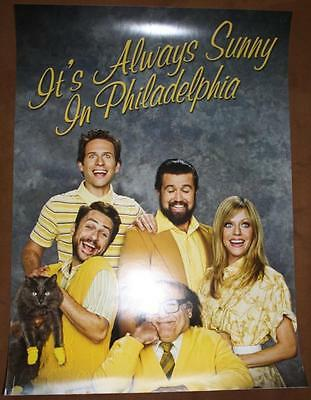 IT'S ALWAYS SUNNY IN PHILADELPHIA Original Promo TV/Movie Poster SDCC 2012 MINT