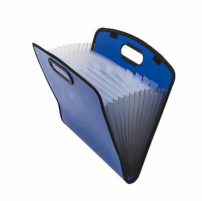 Expandable Portable Hand-Held Accordion File Document Folder File Organizer A4