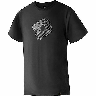 Demarini WTD106272 Black Adult Small Graphic T-Shirt Baseball American Flag