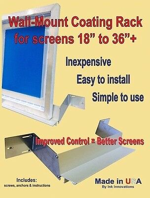 MMC Screen Rack CONVERSION KIT, Screen Holder, Scoop-Coater Screen Holding Shelf