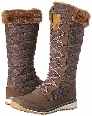 Salomon Hime High Tall Winter Boots Absolute Brown - Women's Size 6 - 9.5