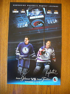 HHOF Induction Doug Gilmour Bryan Trottier Legends Classic Hockey Signed Poster